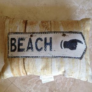 DECORATIVE BEACH SIGN TAPESTRY PILLOW NEW!! USA!!!